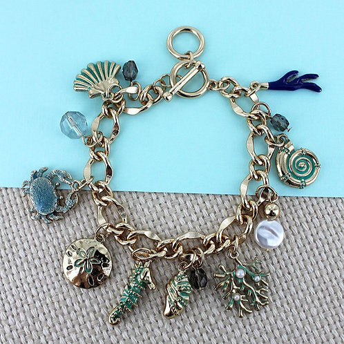 Sea Treasures Toggle Charm Bracelet