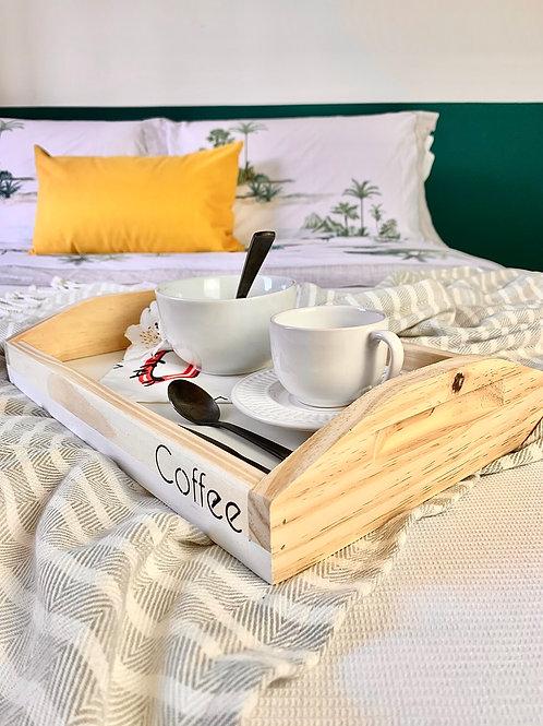 JOSH - Bandeja de Madeira para Café