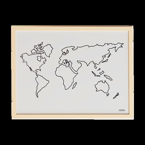 JOSH - Quadro Mapa Mundi