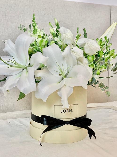 JOSH - Box de Arranjo de Flor Grande (Lírios)