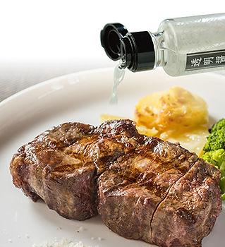 透明醤油とステーキ350.jpg