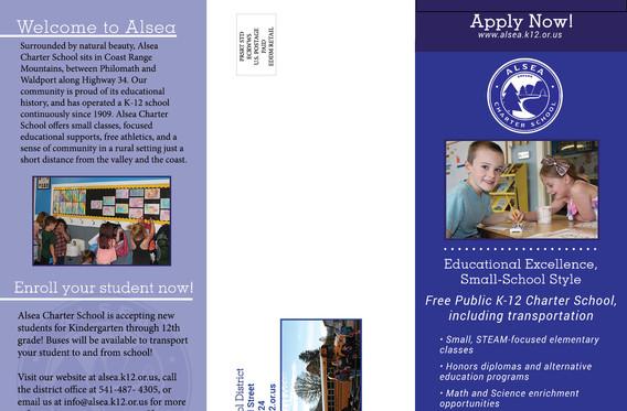 School informational brochure side B