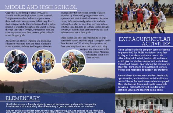 School informational brochure side A