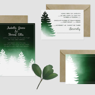 Wedding Invitations - Forest
