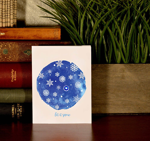 Set of 6 Holiday Cards - Let it Snow