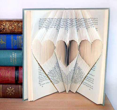 Folded Book - Triple Hearts