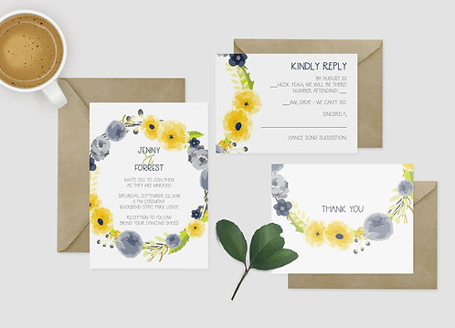 Wedding Invitation Ensemble - DIY - Digital Files