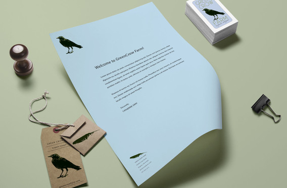 green crow stationery