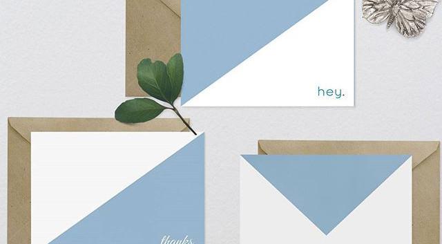 minimalistic stationery