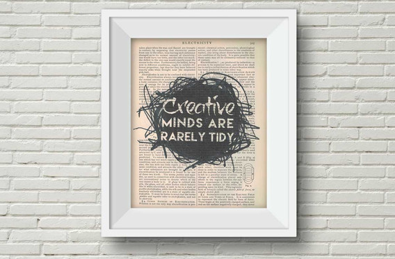 creative minds book page print