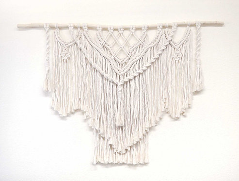 Cream Macrame Wall Hanging