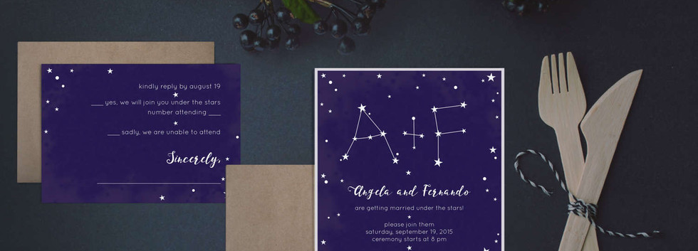 constellation wedding set