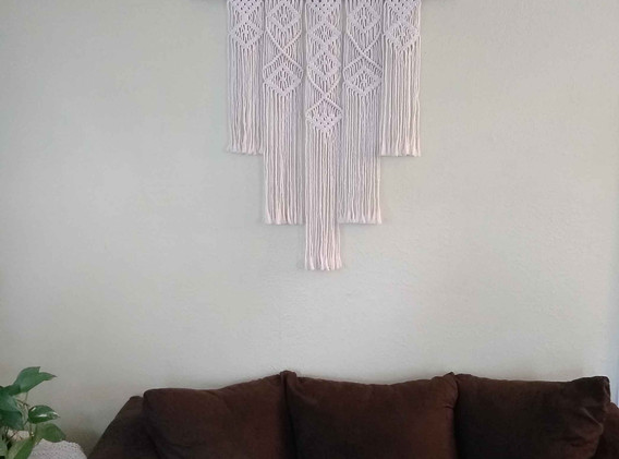 five panel geometric wall hanging
