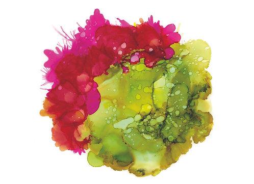 Art Print - Cactus Flower - Alcohol Ink - Unframed