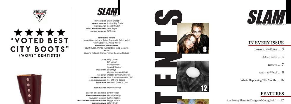 SLAM masthead & table of contents