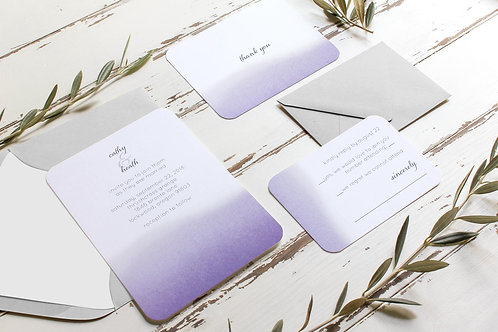 Wedding Invitations - Set of 20 - Lilac Watercolor