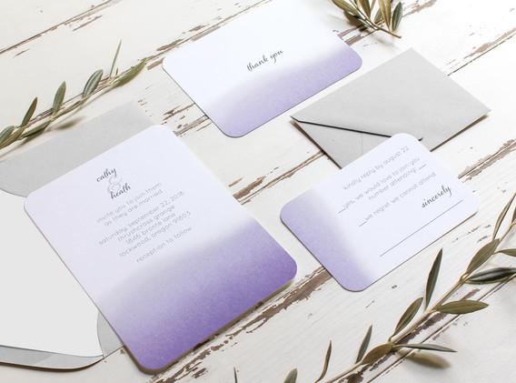watercolor ombre wedding set