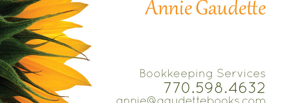 bookkeeper business card