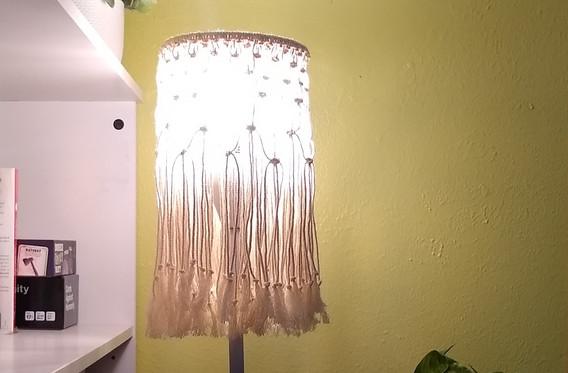 macrame lampshade