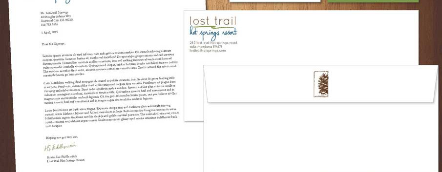 lost trail stationery