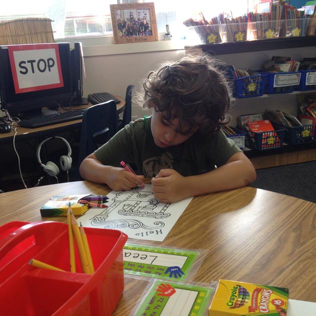 lifestyle image B - kids coloring - repl