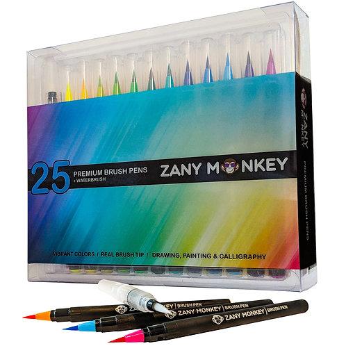 25 Watercolor Brush Pens for Kids & Adult Coloring, Painting, Drawing, Art etc