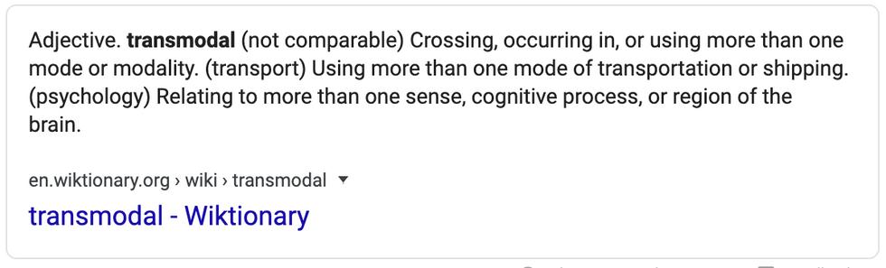 13.5 Definition of Transmodal Screenshot