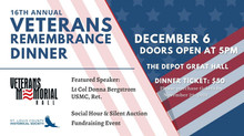 16th Annual Remembrance Dinner - Monday, December 6, 2021
