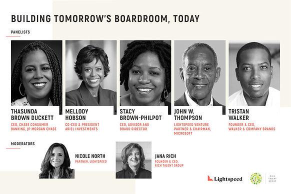 Building tomorrow's boardroom today Panelists