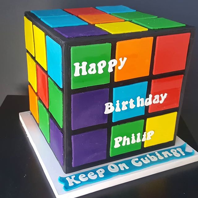 Cube Farm Blues >> Rubix Cube Cake Cake Co
