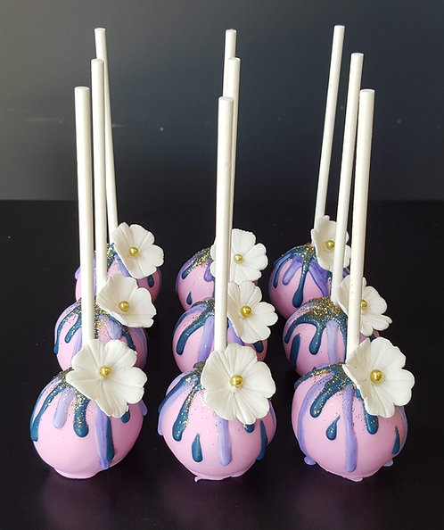 Flower Drip Cake Pops