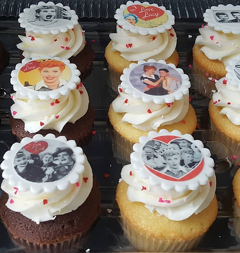 I Love Lucy Cupcakes