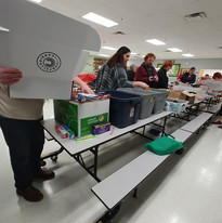 Host a box filling party with you church, afterschool club or work.