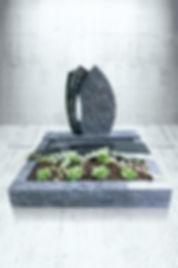 Urnengrabstein UA-320 Indisch black Orio