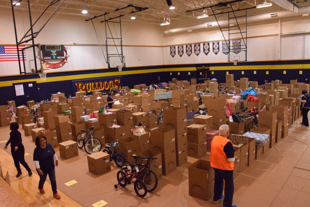 Over 600 families sponsored.
