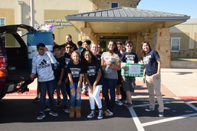 Schools helping community.