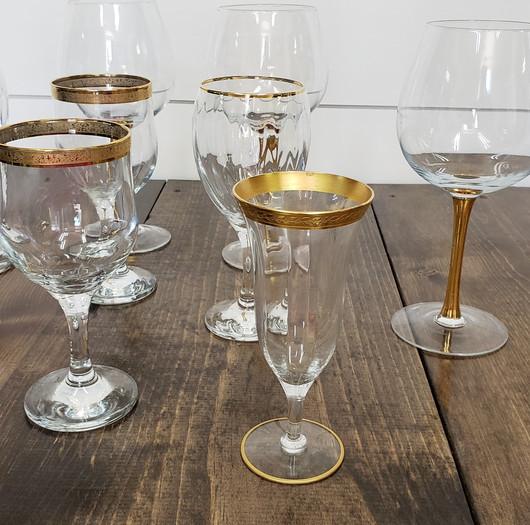 Gold Detail Goblets