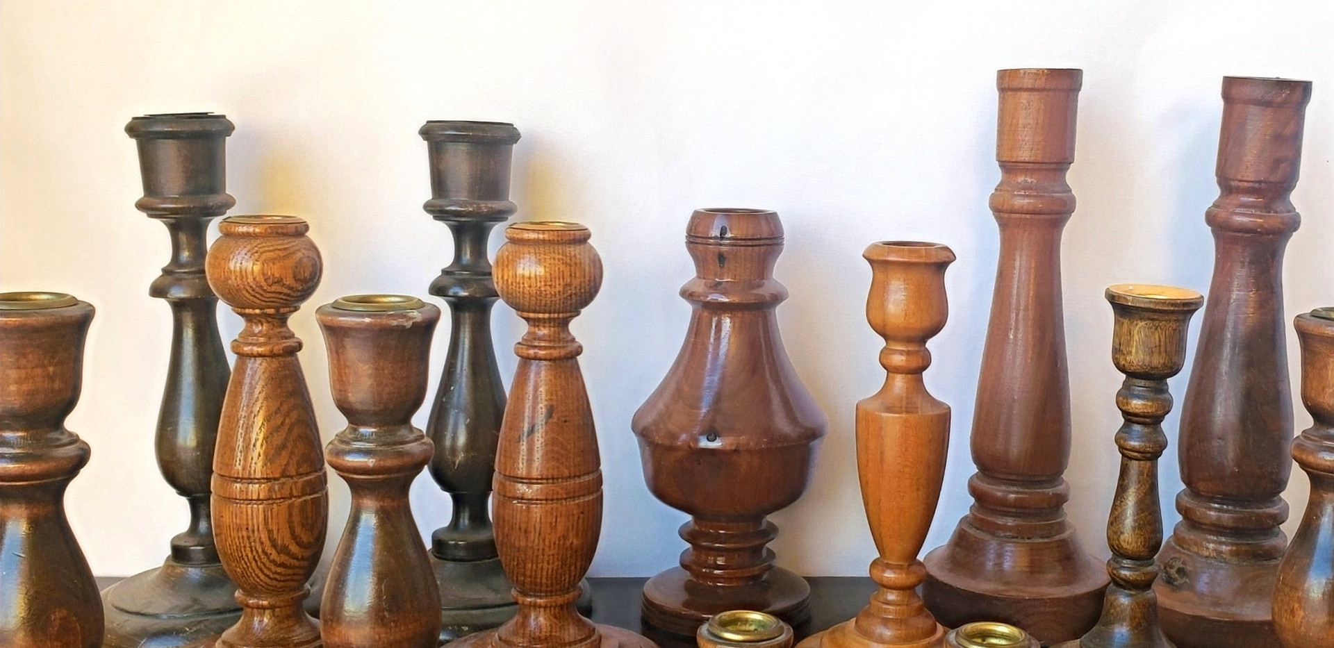 Wood Candle Holder Collection