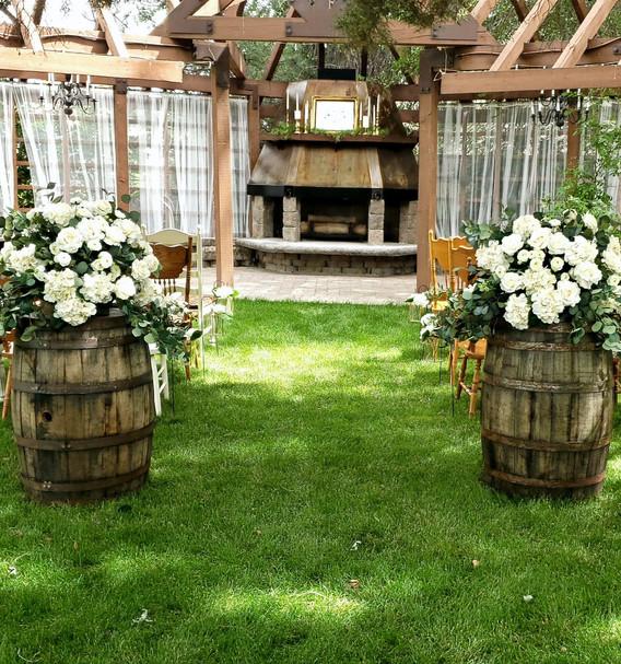 Barrel and Floral Topper