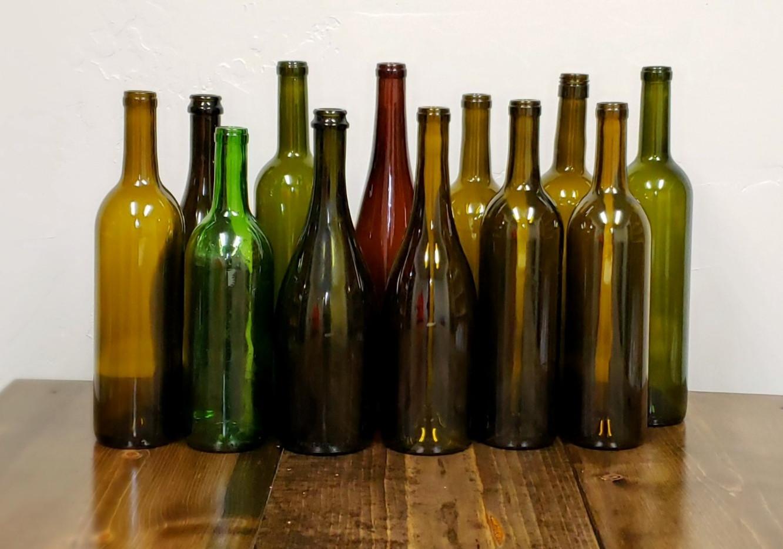 Dark Wine Bottle Vases