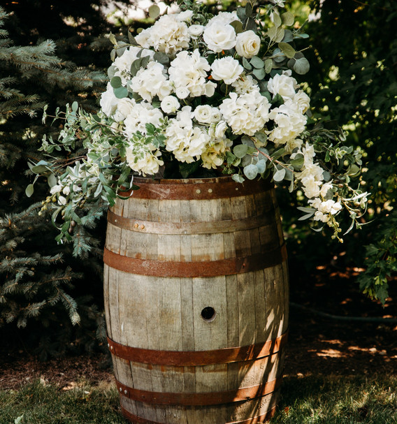 Whiskey Barrel with Topper