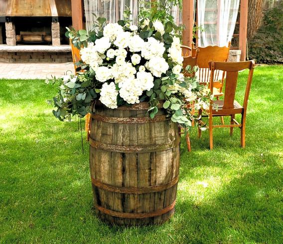 Whiskey Barrels & Floral
