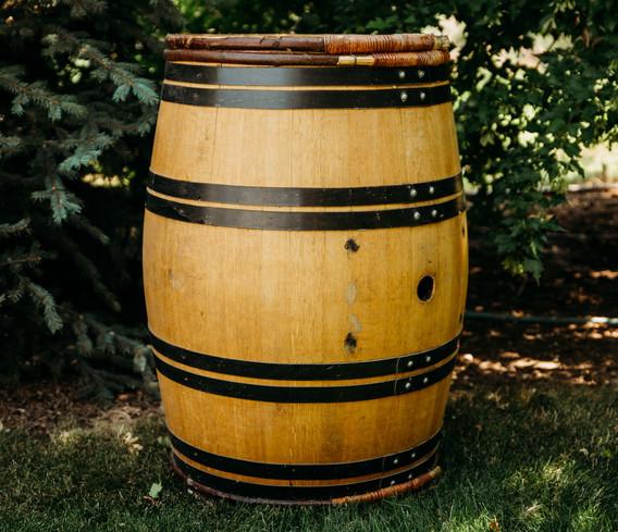 Black Ring Oak Wine Barrel