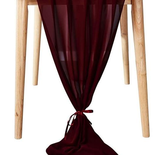 Table Scarf -Burgundy