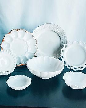 Assorted Milkglass Serveware