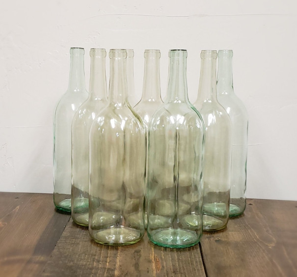 Large Clear Wine Bottles