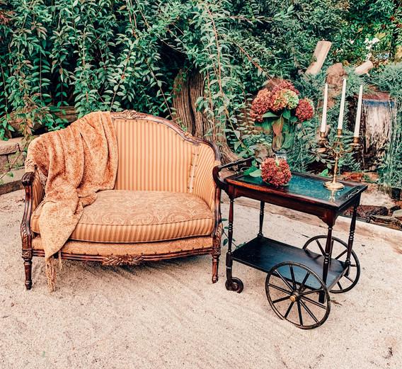 Diane with Posey Tea Cart