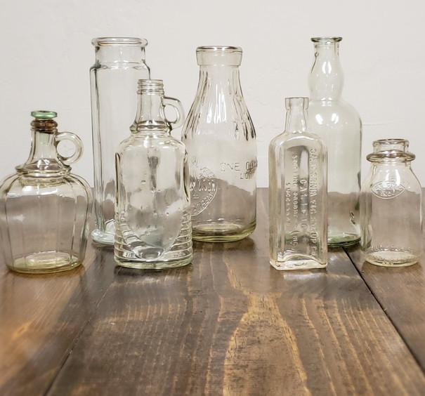 Clear Vintage Bottles