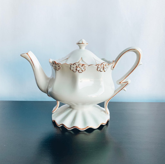 Ornate White and Gold Tea Pot.jpg