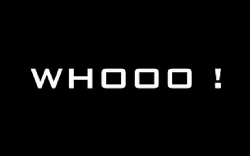 WHOOO!